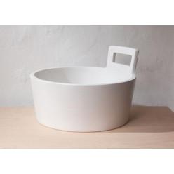JIKA Art - Umyvadlo na desku, průměr 460 mm, bílá H8101410001041