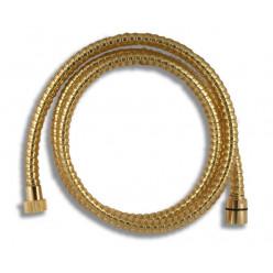 NOVASERVIS Sprchová hadice plastová 150 cm zlato SPIRAL/150,ZL