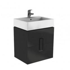 KOLO TWINS skříňka pod umyvadlo 60x46, 60x57x46 2x zásuvka, 2x černé madlo matná černá 89494000