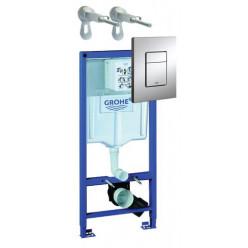 Grohe Rapid SL - Předstěnový instalační set pro závěsné WC, výška 1,13 m, ovládací tlačítko Skate Cosmpolitan, chrom 38772001