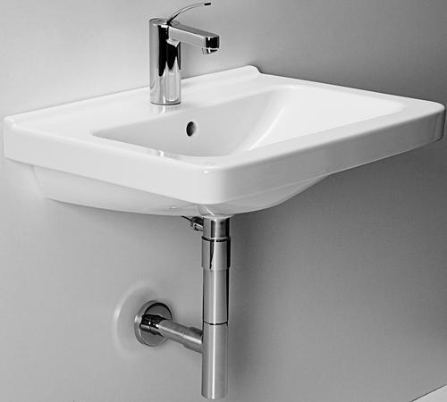 JIKA Cubito - Umyvadlo, 600mm x 450mm, bílé - bezotvorové umyvadlo H8104230001091