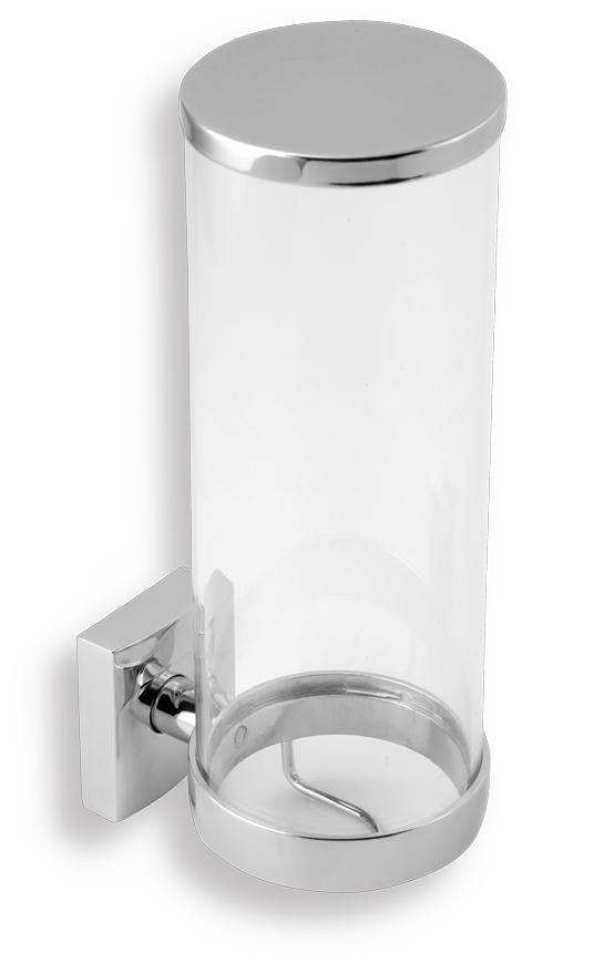Novaservis Metalia 12 - Zásobník na kosmetické tampony, sklo/chrom 0272,0