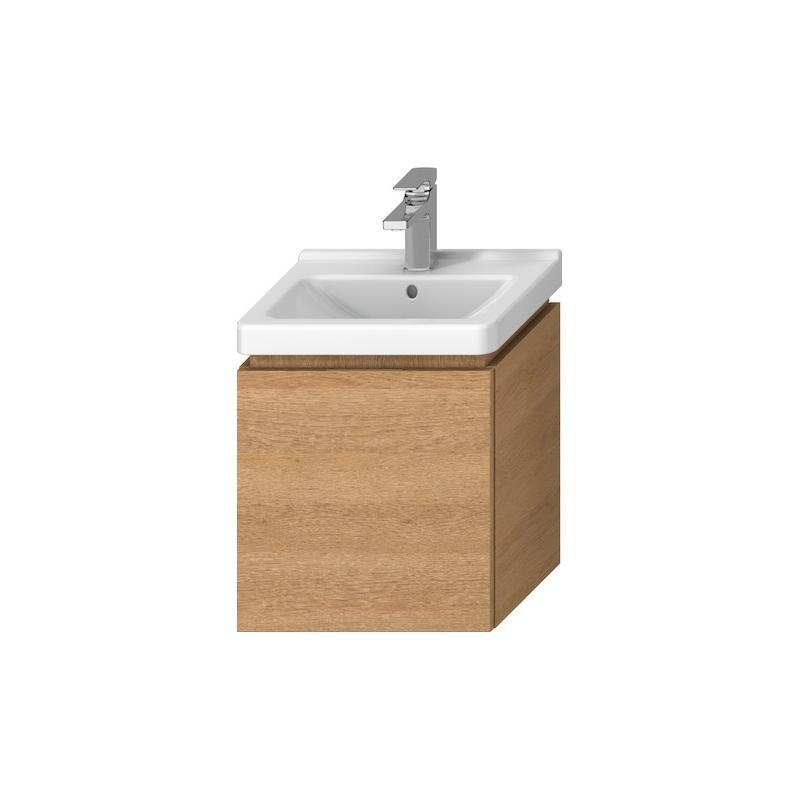 JIKA Cubito - Skříňka pod umyvadlo 440x480 mm, 1 zásuvka, dub H40J4213015191