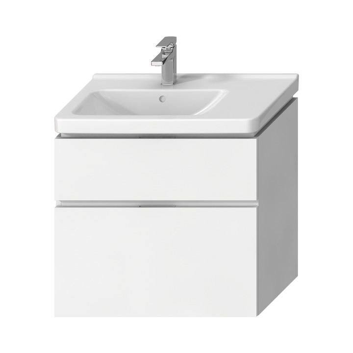 JIKA Cubito Pure - Skříňka pod umyvadlo 740x683 mm, výřez vlevo, bílá H40J4254045001