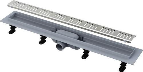 ALCAPLAST Simple - Podlahový žlab s okrajem pro perforovaný rošt APZ10-750M